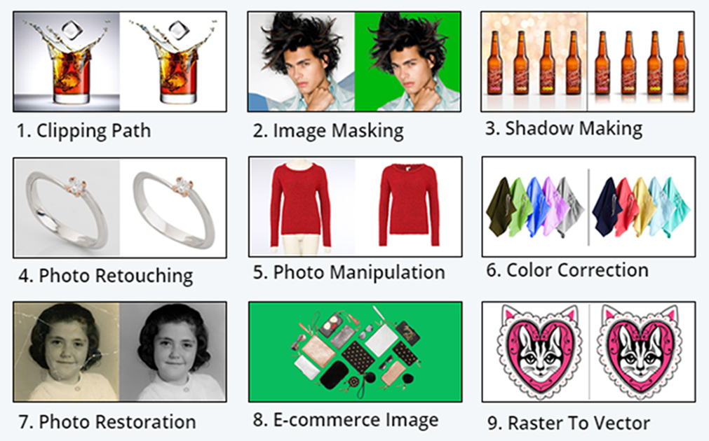 Color Correction Services - Independent Clipping Path